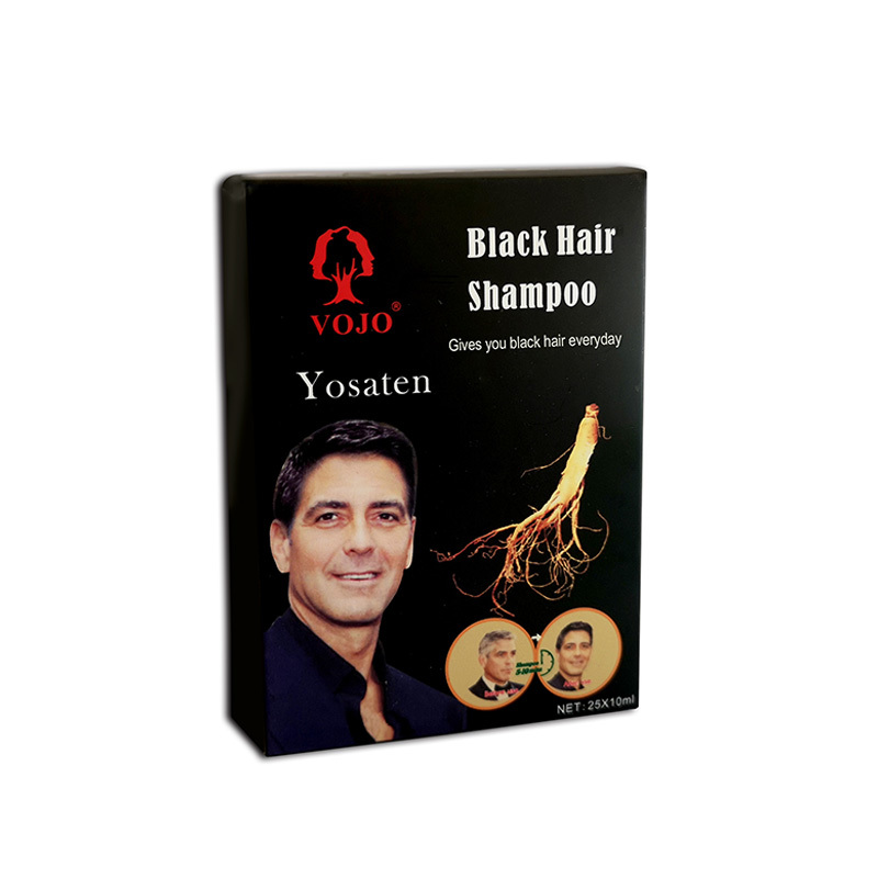 vojo hiar dye shampoo ginseng extract 5 Mins Hair Dye 100% Gery Hair Coverage  Black Hair Color Shampoo