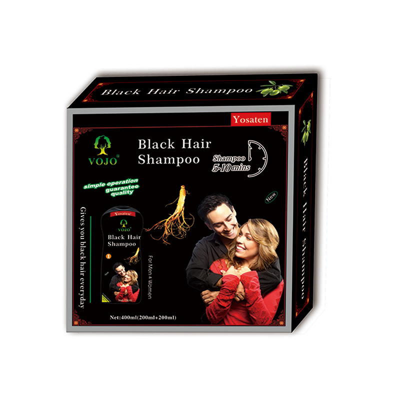 vojo hair dye shampoo  Ginseng Ammonia Free Healthy black hair shampoo Herbal Hair Color Change black Hair Dye Shampoo in Pakistan market