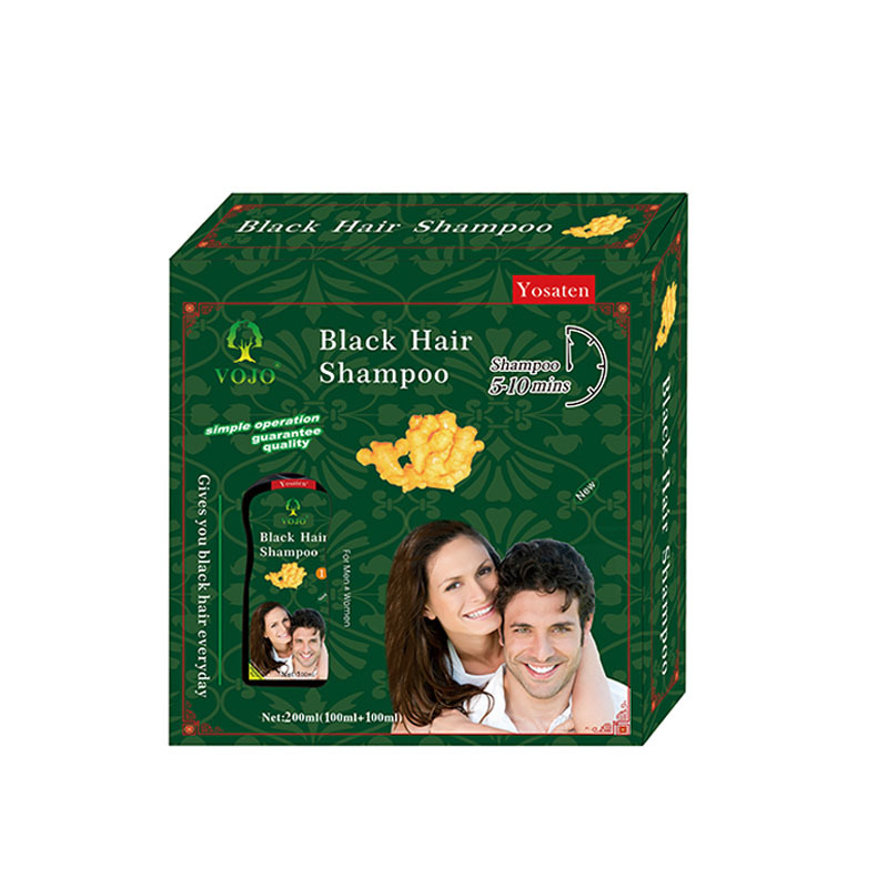 VOJO ginger hair dye natural black Dye Shampoo for cover grey hair  oem black shampoo against grey hair shampoo