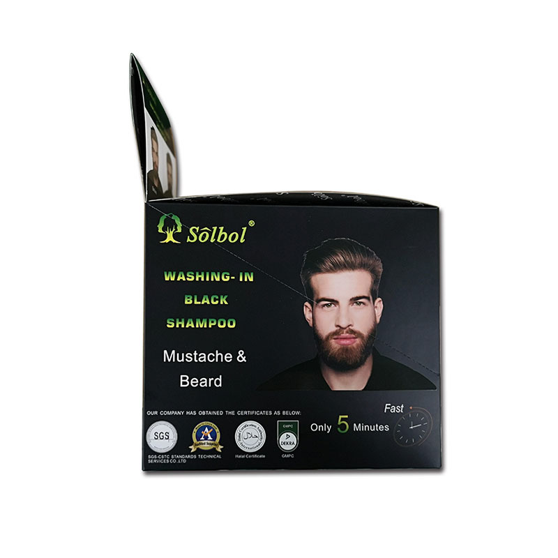 vojo beard & mustach dye shampoo Newest instant  5 minutes beard dye/mustacle color to men