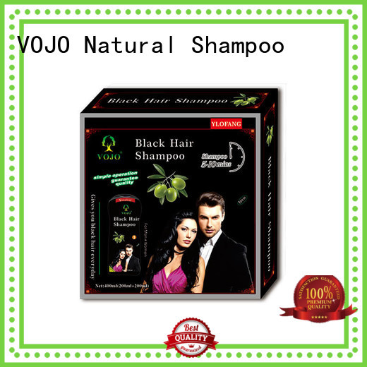 VOJO natural hair colour shampoo with certification for girls