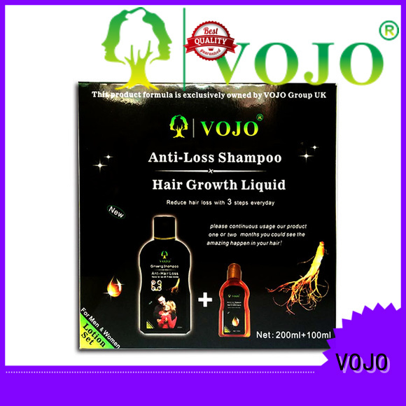 VOJO label anti hair fall shampoo factory for adult