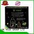 Bulk hot selling natural ginger anti hair loss conditioner and shampoo gift set