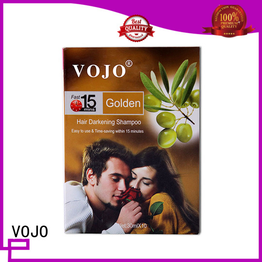 VOJO wholesale hair colour shampoo with cheap price for man
