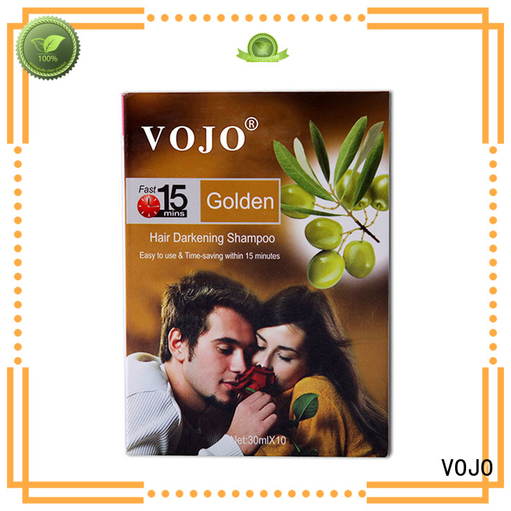 VOJO first-rate black hair colour shampoo black for adult
