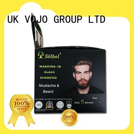 vojo beard & mustach dye shampoo Newest instant  5 minutes beard dye/mustacle color to men