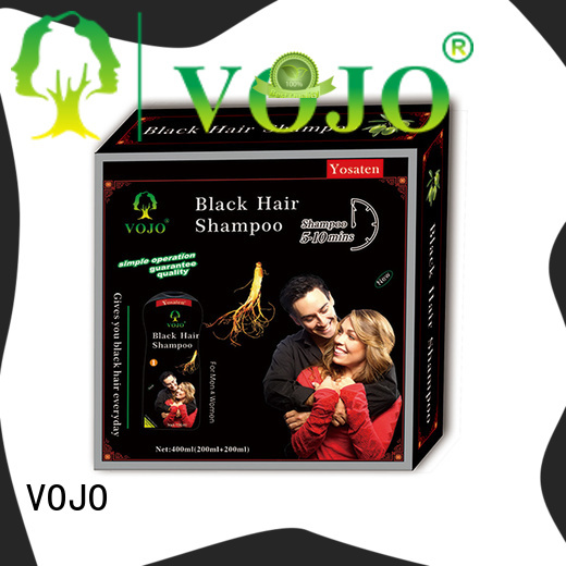 VOJO grey hair colour shampoo company for girls