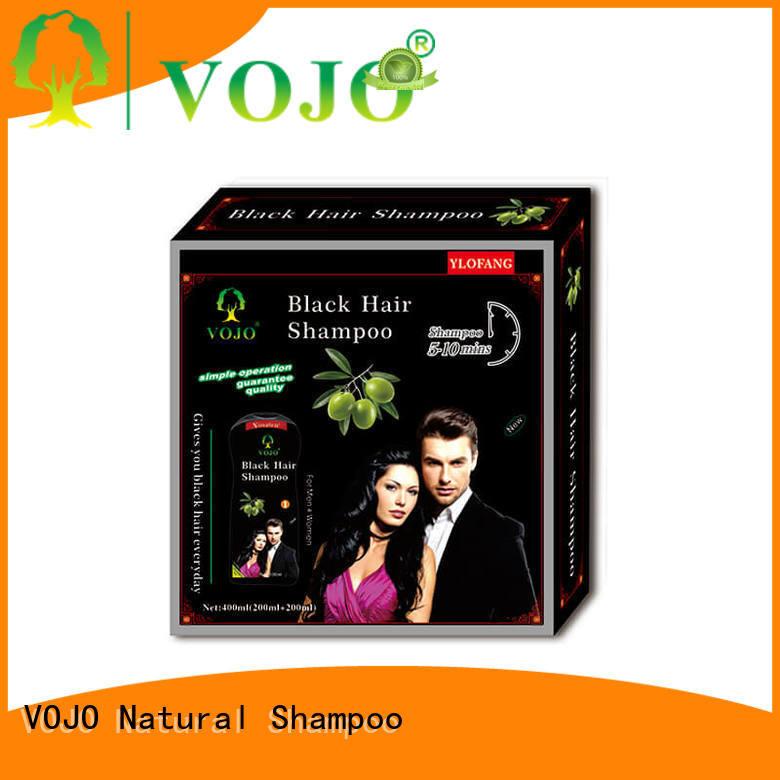 hiar hair dye shampoo black for woman VOJO