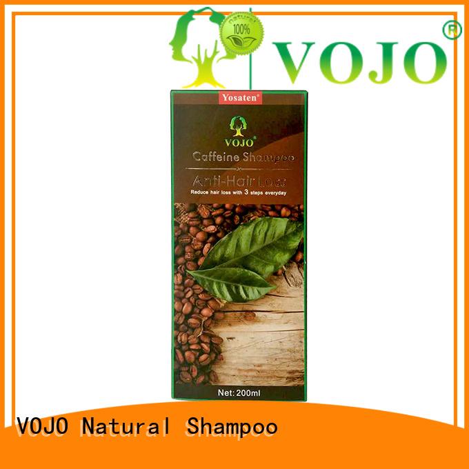 Make Hair Grow faster vojo hair loss shampoo caffeine   Extractive  organic Anti Hair loss shampoo