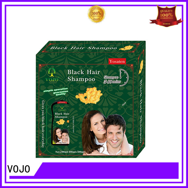 VOJO ginger hair dye natural black Dye Shampoo for cover grey hair  oem black shampoo against grey hair shampoo