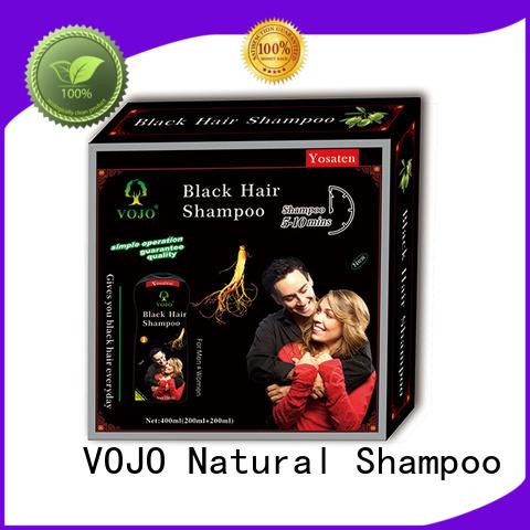 VOJO blackening hair colour shampoo for business for girls
