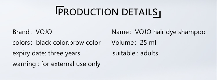 VOJO natural beard dye shampoo factory for woman-2
