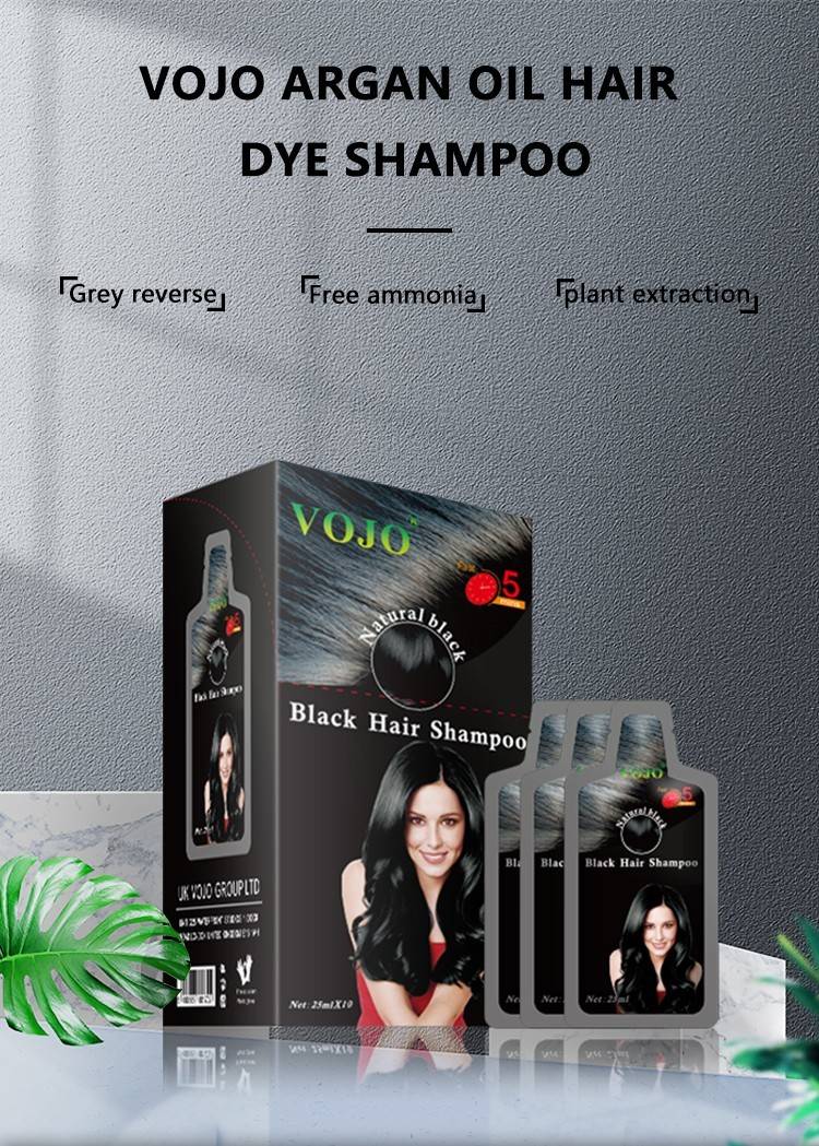 VOJO natural beard dye shampoo factory for woman