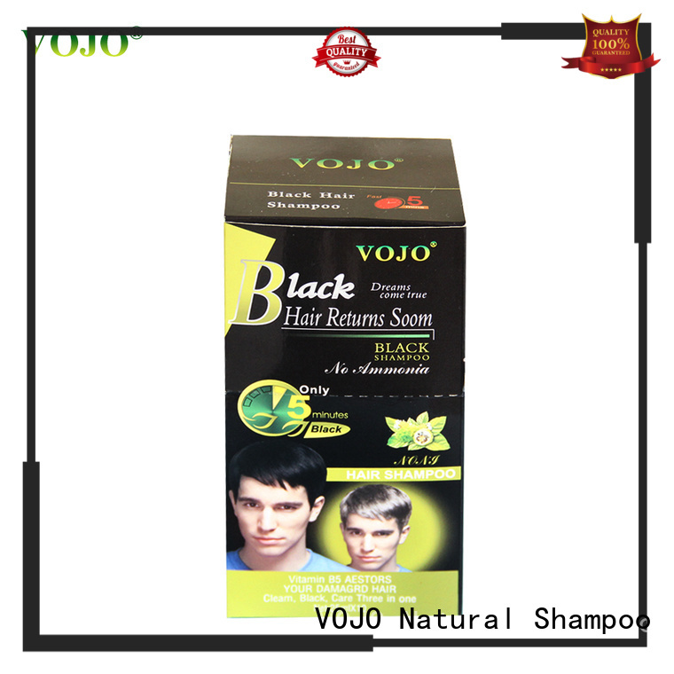 VOJO natural hair colour shampoo for business for woman