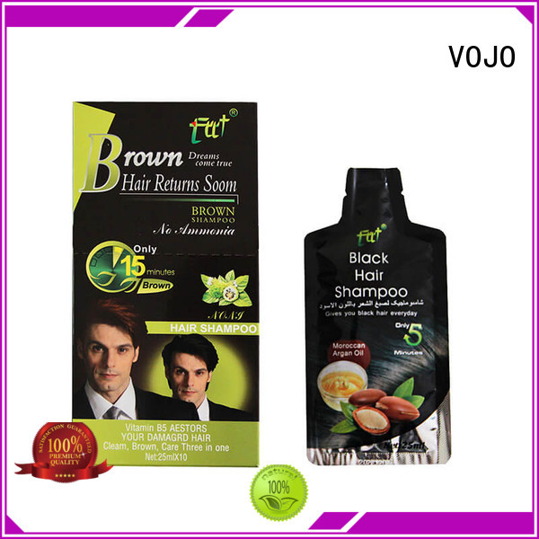 VOJO natural hair dye shampoo suppliers for man